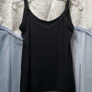 CAMISOLE COTTON BLACK STRETCHY NO TAGS